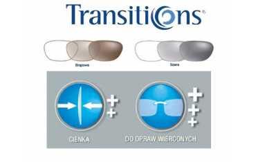 Cienkie szkła fotochromowe z antyrefleksem - O'Clever 1.6 Transitions Sig.