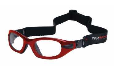 okulary sportowe progear eyeguard z taśma czerwony metalik rozmiar M