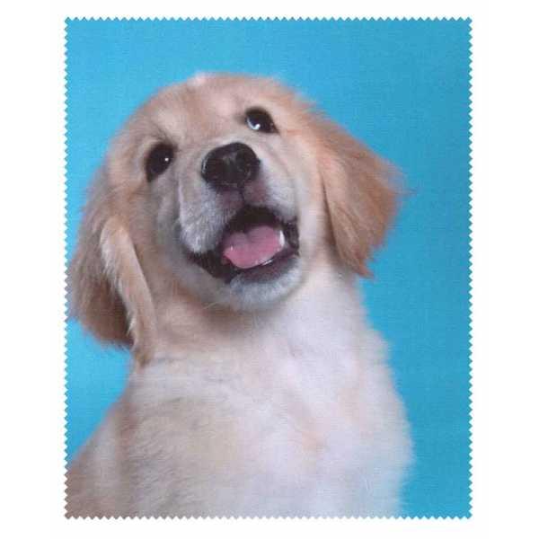 ściereczka mikrofazowa do okularów z psem młody golden