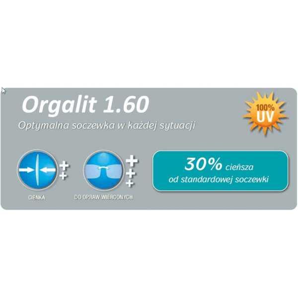 cienkie szkła plastikowe indeks 1.6 Orgalit firmy optovision