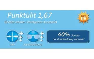 cienkie szkła plastikowe indeks 1.67 Punktulit Super AR plus Rodenstock
