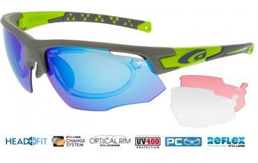 okulary sportowe korekcyjne outdoor'owe Goggle E636-3R szare matowe