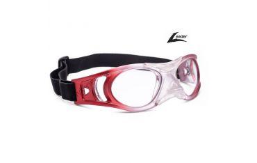 Leader Bounce rozm. L Transparentne czerwone - okulary sportowe ochronne dla dorosłych