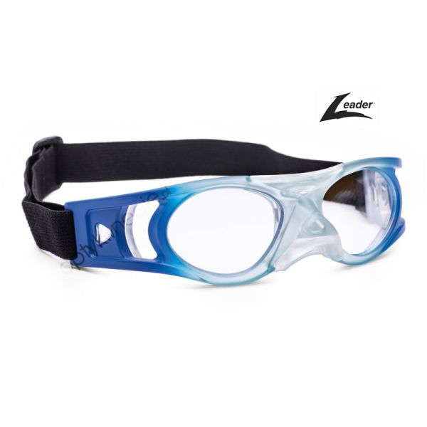 okulary sportowe Leader Bounce w rozmiarze L dla dorosłych kolor Transparentny niebieski