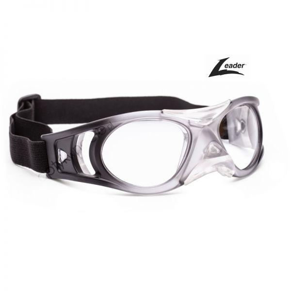 okulary sportowe Leader Bounce w rozmiarze L dla dorosłych kolor Transparentny czarny