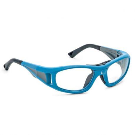 okulary sportowe korekcyjne Leader c2 dla dzieci neonki niebieski