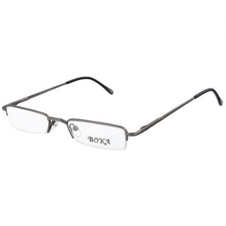 męskie oprawki okulary połówki do czytania korekcyjne Boka 364 c1 kolor stalowy