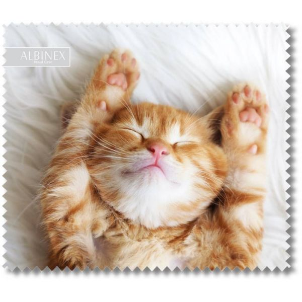 ściereczka do okularów szkieł z nadrukiem śpiący kociak