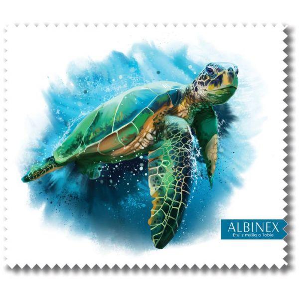 ściereczka do okularów szkieł z nadrukiem żółw morski