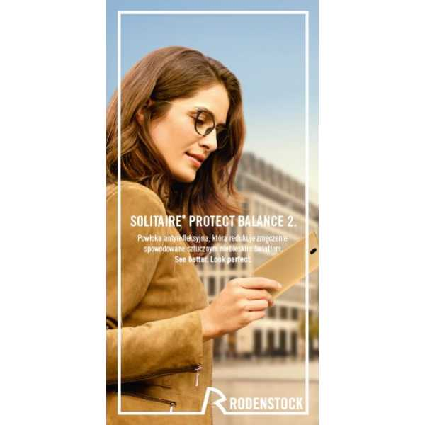 szkła okularowe plastikowe perfalit 1.6 mono plus solitaire protect balance 2 x-tra clean rodenstock