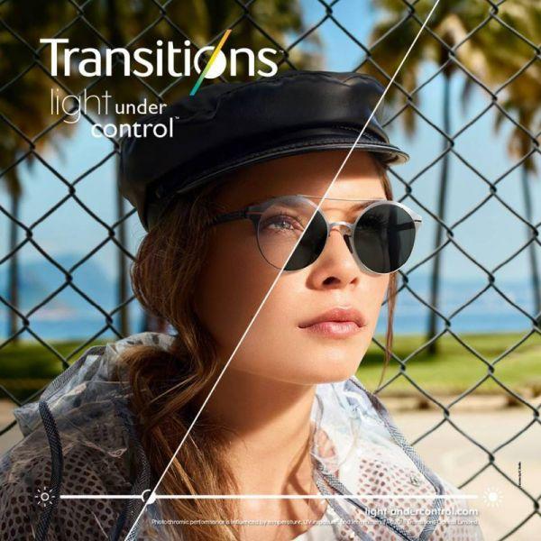 plastikowe organiczne szkła fotochromowe Transitions Gen8 Crizal Sapphire UV