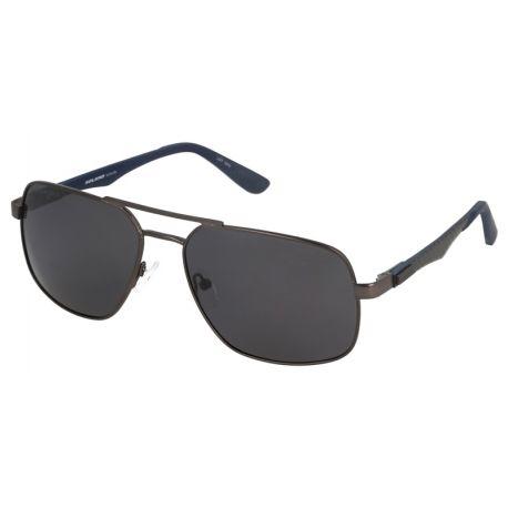 męskie okulary przeciwłoneczne z polaryzacją solano ss 10316 d gunmetal, szkła z antyrefleksem