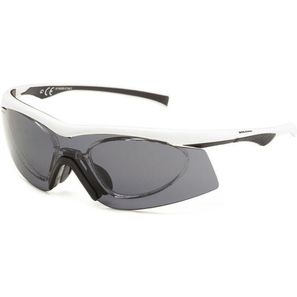 okulary sportowe korekcyjne Solano sp 60009 G czarne z białym