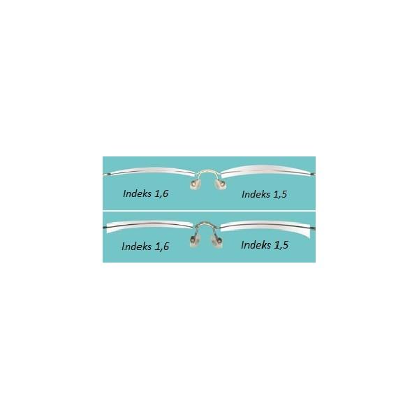 cienkie szkła korekcyjne z antyrefleksem plastikowe indeks 1.56