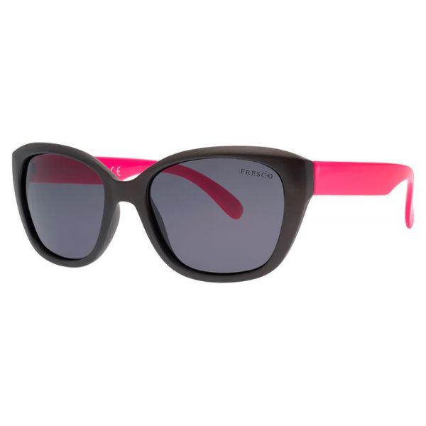 dziewczęce okulary przeciwsłoneczne z polaryzacją Fresco FS 746-1 grafitowe