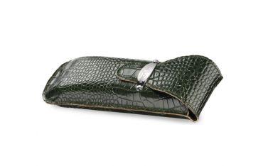 Etui na okulary Royal Case model 90.041 skóra naturalna - kolor zielony