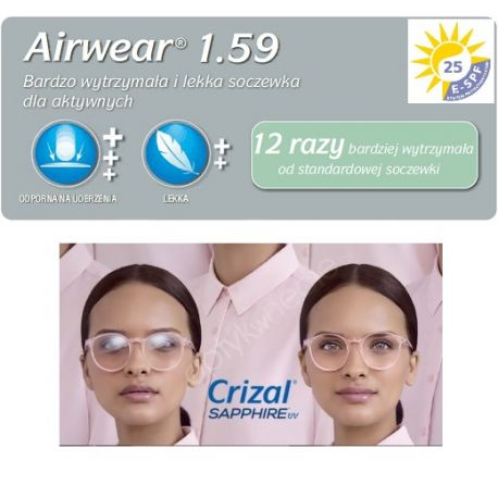 fotochromy poliwęglanowe Airwear 1,59 Transitions Gen8