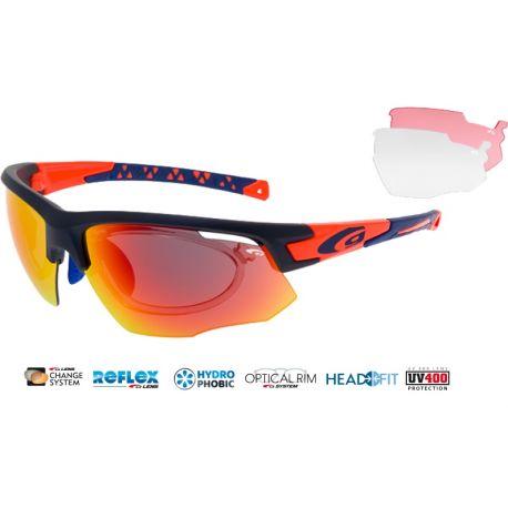okulary sportowe korekcyjne Goggle E636-4R matt navy orange