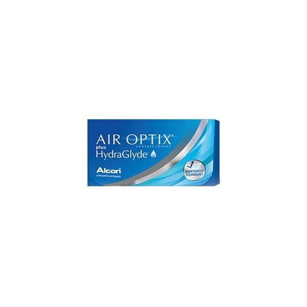 Air Optix Plus HydraGlyde - miesięczne soczewki kontaktowe (3 szt)