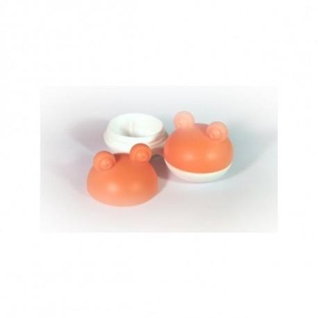 Pojemnik do soczewek kontaktowych - żabka - pomarańczowy